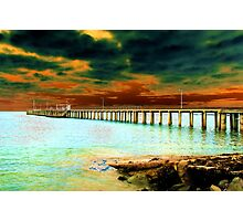 The Old Lorne Pier Photographic Print
