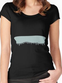 Glitch Ilmenskie Land cave topper 1a z1 Women's Fitted Scoop T-Shirt