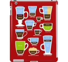 Espresso Coffee Drinks Guide iPad Case/Skin