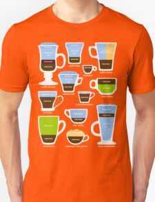 Espresso Coffee Drinks Guide T-Shirt