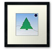 Wintery Scene Framed Print