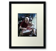 Drawing With Gracie Framed Print