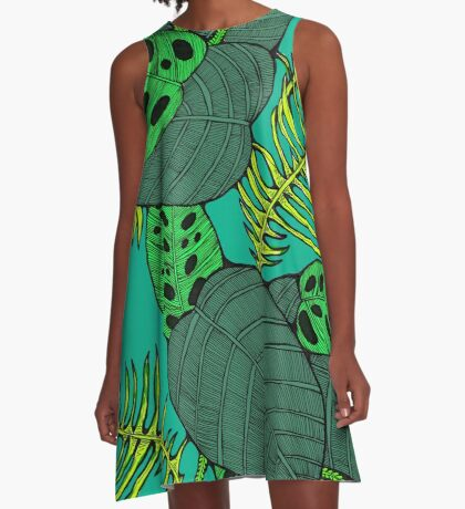 Philodendrons & Ferns A-Line Dress
