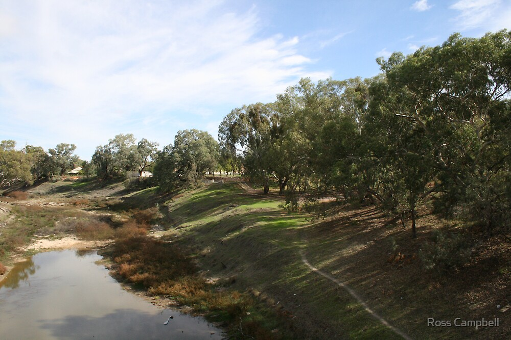 Darling River at Wilcannia. by Ross Campbell