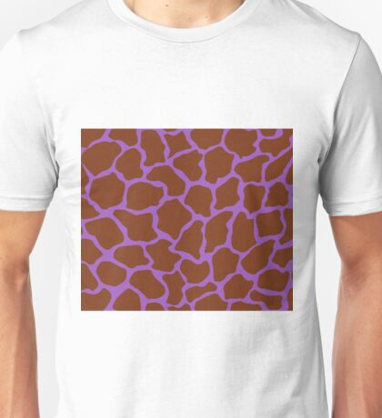 Deep Lilac in Giraffe Pattern  Unisex T-Shirt