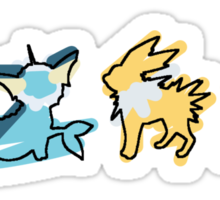 Eevee Vaporeon Jolteon Flareon Sticker