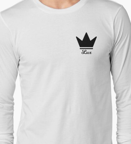Crown Black Long Sleeve T-Shirt