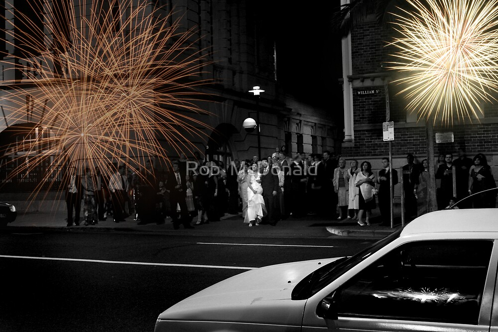 Wedding Fireworks by Rob  McDonald