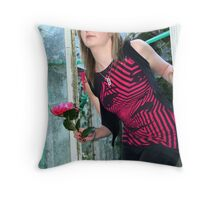 Out of the glasshouse Throw Pillow
