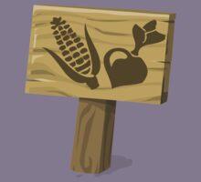 Glitch Ilmenskie Land garden sign crop 01a g1 Kids Tee