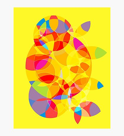 Yellow Abstract Photographic Print