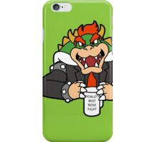 World's Best Boss Fight (b) iPhone Case/Skin