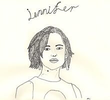 sketch of jennifer lawrence from the hunger games by amelia S-W