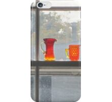 Orange glass dull day iPhone Case/Skin