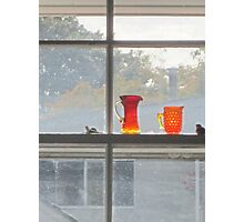 Orange glass dull day Photographic Print
