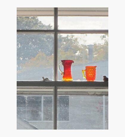 Orange glass dull day Photographic Print