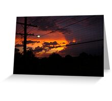 Sunset throught flywire Greeting Card