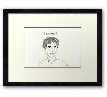 sketch of Bennedict Cumberbatch from sherlock Framed Print
