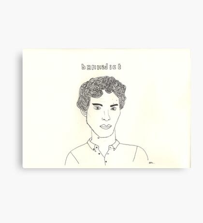 sketch of Bennedict Cumberbatch from sherlock Canvas Print