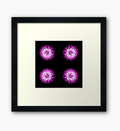Dotted flower Framed Print