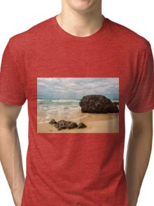 Waves and beach at Snapper Rock, New South Wales Tri-blend T-Shirt