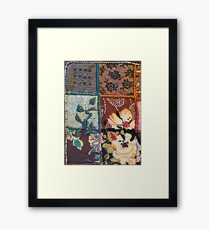 "PATCHWORK ""Floral pearls - part three"" Framed Print"