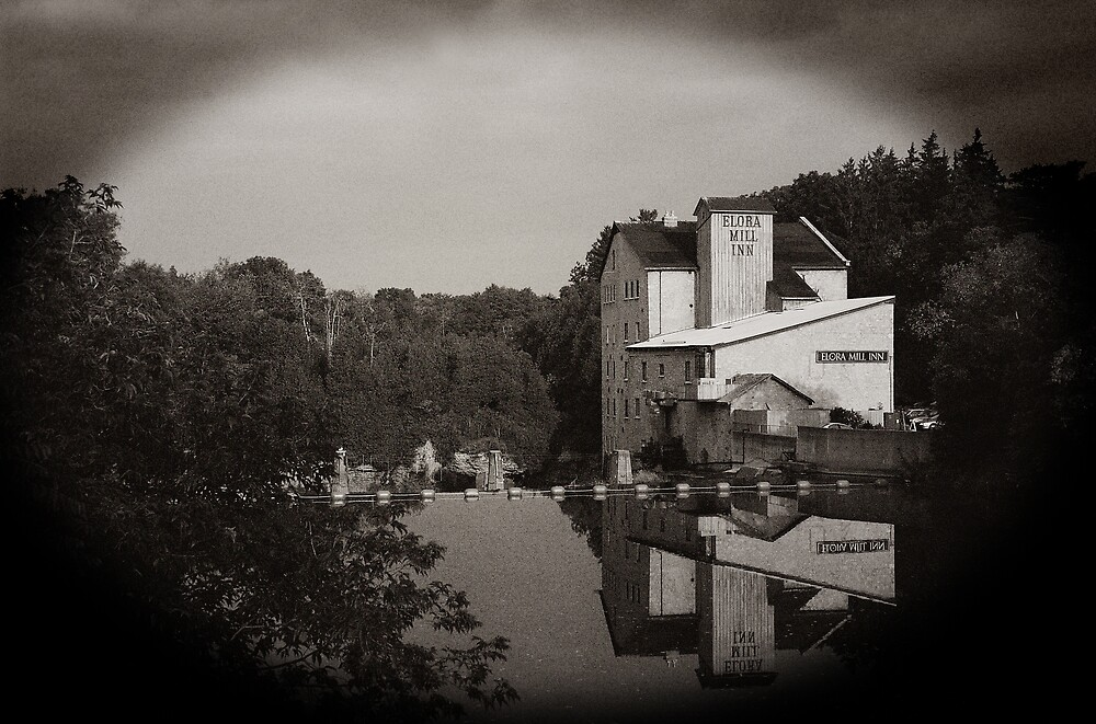 Elora Mill - Sepia by ajnphotography