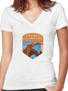 Arches National Park 2 Women's Fitted V-Neck T-Shirt