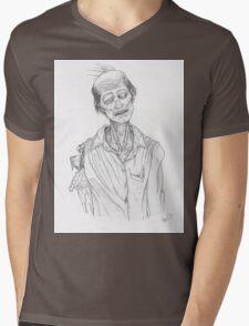 Emaciated Zombie Mens V-Neck T-Shirt