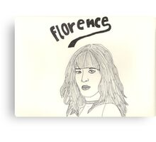 sketch of Florence from Florence + the machine Canvas Print