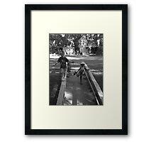 You take the high road... Framed Print