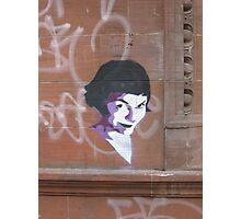 Amelie Stencil art on sandstone, now on iPhone and iPod Photographic Print