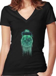 Through Time And Dimensions Hv Women's Fitted V-Neck T-Shirt