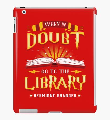When in doubt go to the library iPad Case/Skin
