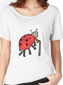 cartoon old ladybug Women's Relaxed Fit T-Shirt