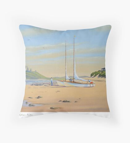 Dunstanburgh from Newton - Northumberland Throw Pillow