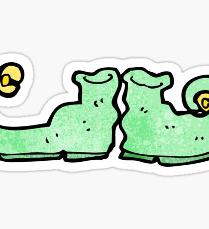 cartoon curly shoes Sticker