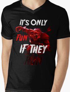 Run For Your Life Mens V-Neck T-Shirt