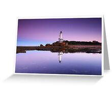 Reflections of Point Lonsdale Lighthouse Greeting Card