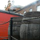 CLASSIC OLD  STEAM  BREWERY  LORRY WITH BARRELS by Rexcharles