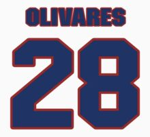 National baseball player Omar Olivares jersey 28 by imsport