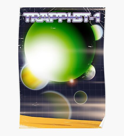TRAPPIST-1 science fiction poster  Poster