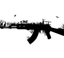 Ak47 Love & Peace by Plastica Tees