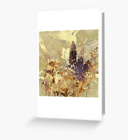 floral sur beige/floral on beige Greeting Card