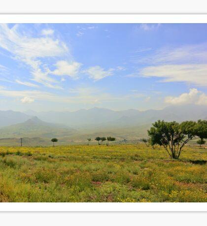 Lesotho Plain Sticker