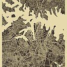 SYDNEY AUSTRALIA MAP by JazzberryBlue