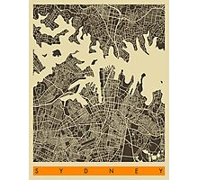 SYDNEY AUSTRALIA MAP Photographic Print