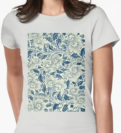Bright Asian Modern Stylish Vintage Floral Pattern Art - Flowers Artwork Collection Womens Fitted T-Shirt