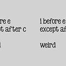 I before E by Fiona Doyle