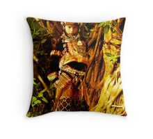 Denizen of the Golden forest Throw Pillow